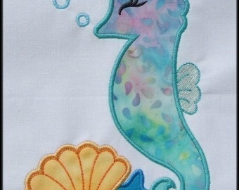 INSTANT DOWNLOAD Sea Horse Applique designs