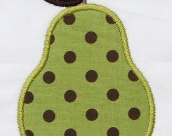 INSTANT DOWNLOAD Pear Applique Designs