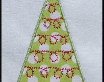 INSTANT DOWNLOAD Be Merry Christmas Tree A Applique designs