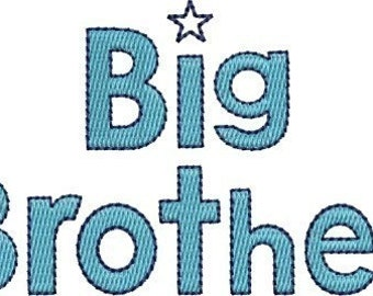 INSTANT DOWNLOAD Big Brother and Little Brother machine embroidery designs