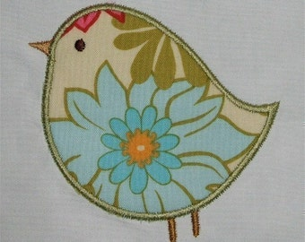 INSTANT DOWNLOAD Adorable Birds  Applique designs 4 x 4 and 5 x 7 hoop Machine Embroidery