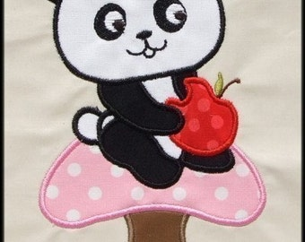 INSTANT DOWNLOAD Hungry Panda Applique designs