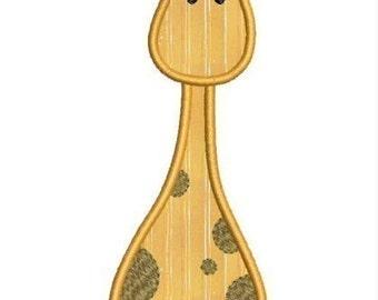 INSTANT DOWNLOAD Bolo the Giraffe Applique designs 2 sizes