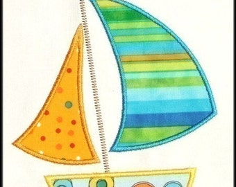 INSTANT DOWNLOAD Sailboat Applique designs