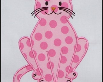 INSTANT DOWNLOAD Kitty  Applique designs 3 sizes