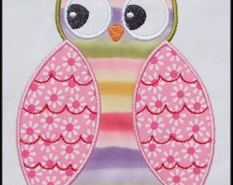INSTANT DOWNLOAD HOOT Owl Applique designs
