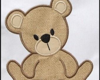 INSTANT DOWNLOAD Teddy Bear Applique designs