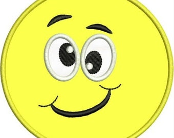 INSTANT DOWNLOAD Silly smiley face Applique designs