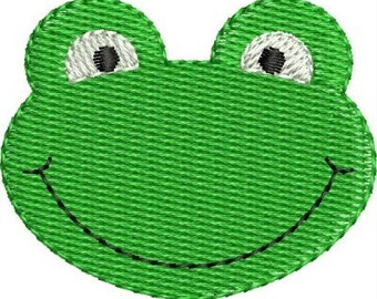INSTANT DOWNLOAD Mini frog embroidery designs