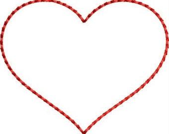 INSTANT DOWNLOAD Felt Heart Applique Embroidery designs