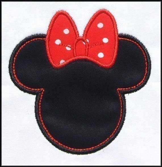 INSTANT DOWNLOAD Mouse Ears w Bow Applique and Fill designs
