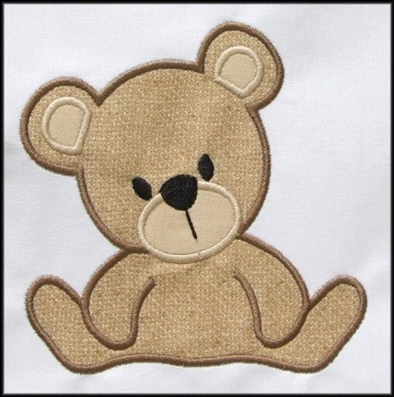 INSTANT DOWNLOAD Teddy Bear Applique designs