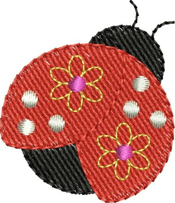 INSTANT DOWNLOAD Mini ladybug embroidery designs