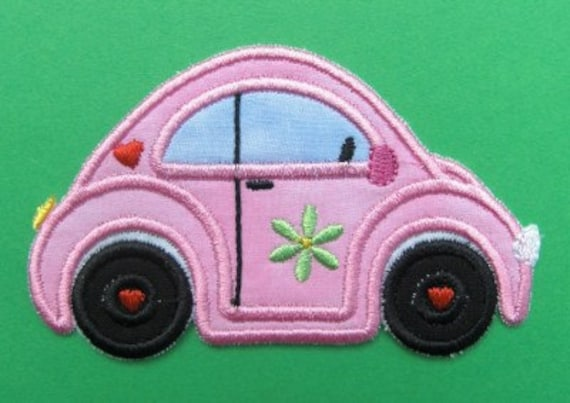 INSTANT DOWNLOAD Love Bug Car Applique designs