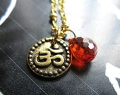 Simple Peace 22K Gold bali style or Silver Good karma Om