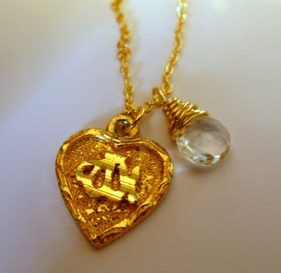 Love ALLAH 24K Gold plated heart with Arabic Calligraphy Islamic ...