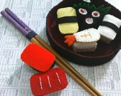Felt Sushi Play Set (include placemat and chopstick)