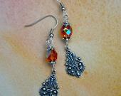 Glittery topaz earrings