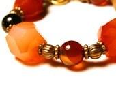 Agate nuggets bracelet