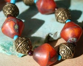 Silk road tribal necklace