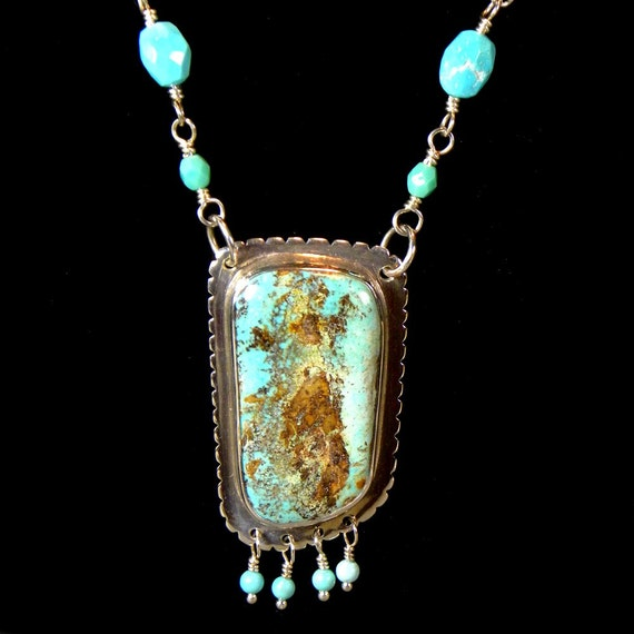 Navajo inspired turquoise necklace