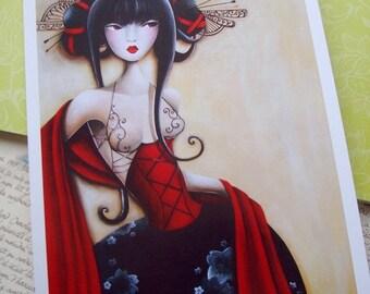 Signed prints Les peignes noirs