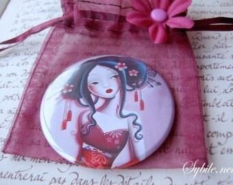 Pocket mirror Cherry blossom