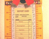Report Card for the Teacher...World's Best Teacher FREE Personalization.. Laminated letter size clipboard