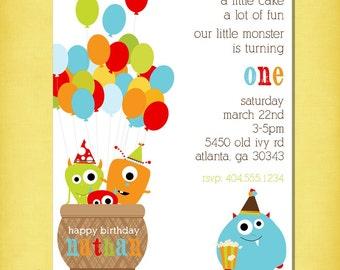 Monster Birthday Party Invitation Set of 20