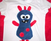 SPARKY MONSTER zany baby suit - bodysuit or toddler t-shirt