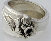RESERVED Spoon Ring Size 10 Daffodil