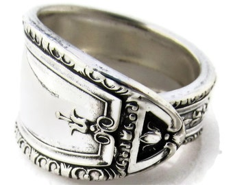 Spoon Ring Art Deco Louisiana Pattern