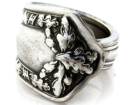 Spoon Ring Size 6 A Fair Oak 1913 Antique Silverware
