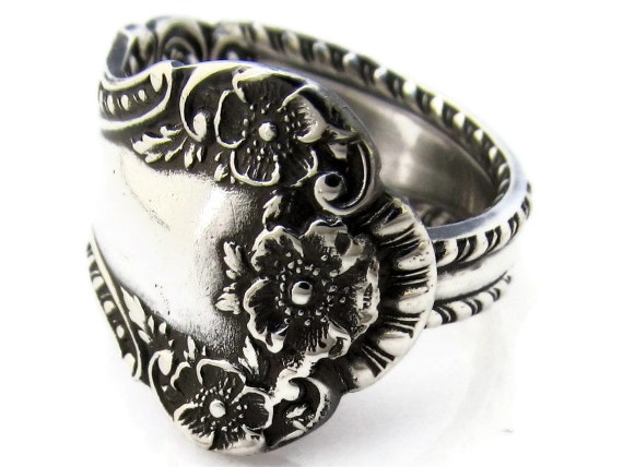 Spoon Ring Sterling Silver Size 6-8 Cambridge Gorham 1899