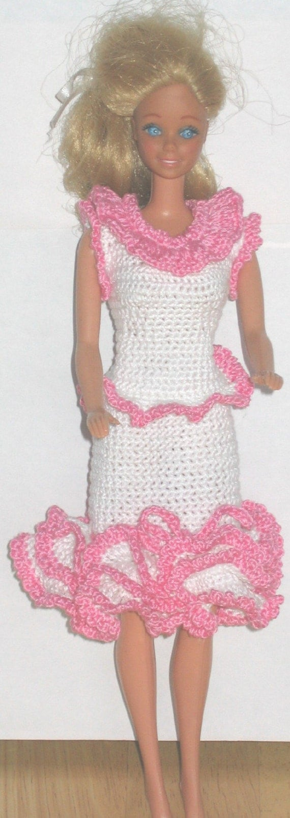 Crocheted Barbie Dress - Summer Strolling Outfit