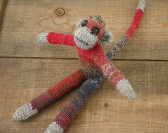 Knitting Pattern- Cheeky Little Monkey- PDF download