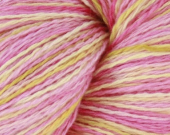 Pink Flamingos- Hand Dyed Cashmere Yarn
