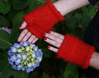 Knitting Pattern- Smitten Kitten Fingerless Mitten- PDF download