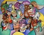 Say Cheese Dental Art Dentist Teeth Smiling Cubist Anthony Falbo