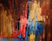 Fear Not Abstract Original Painting Jesus Anthony Falbo