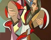 Moses Print Giclee Ten Commandments Mountain Bible Jews Freedom Wilderness Anthony Falbo