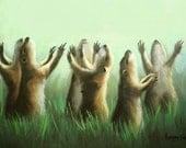 Praising Prairie Dogs Print Praise Love Family Anthony Falbo