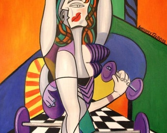 A Day At The Spa Cubist Woman Anthony Falbo