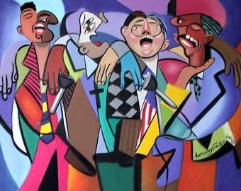 Sing It Again Gospel Quartet Poster Jesus God Music Church Praise Anthony Falbo