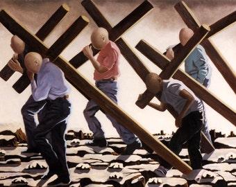 The Walk Gicllee Print Poster Cross Jesus Christian art Anthony Falbo