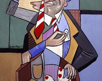 Sharp Dressed Man Print Poster Cubism Anthony Falbo