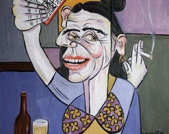 Bingo Lady Poster / Print Cubism Anthony Falbo