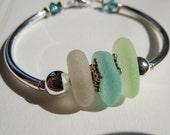 Colors of the Sea  Beach Glass Bracelet