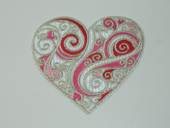 Metallic Heart Patch to Dress up Your Favorite Clothing