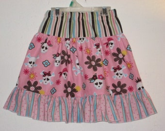 Princess Skulls in Corduroy Skirt in Size 3, Last one and ready to ship